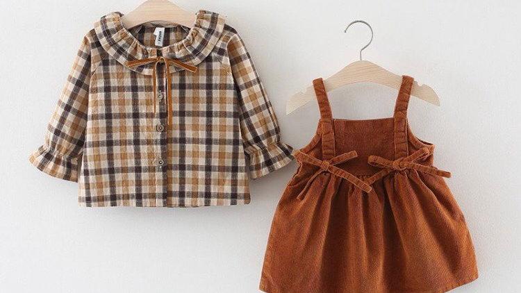 Autumn corduroy dres & blouse