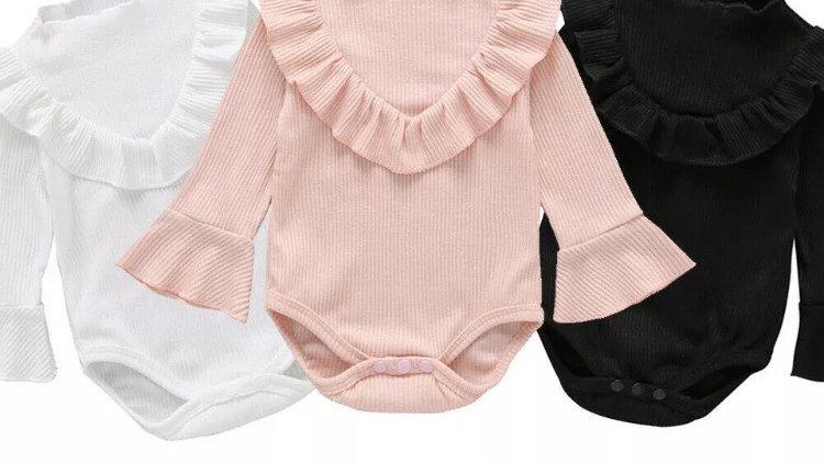 Frill collar bodysuit