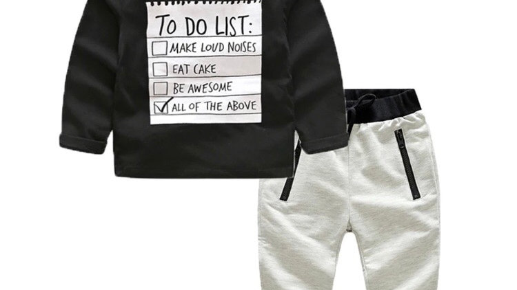 To do list trouser and sweater kids clothes