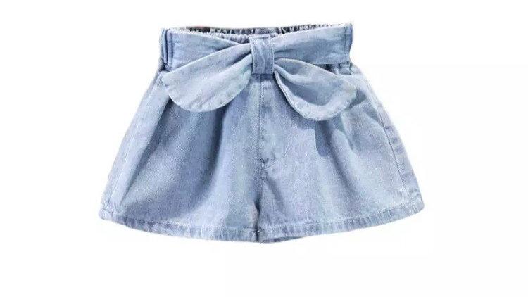 Denim short-skirt