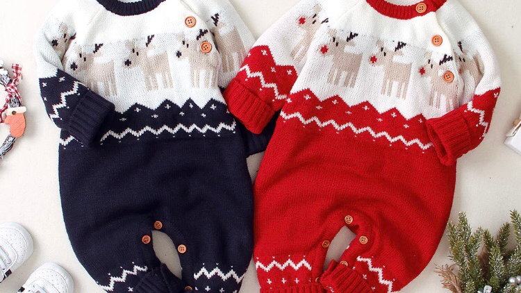 Christmas reindeer romper