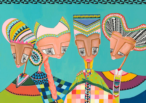 ארבע נשים גלוייה