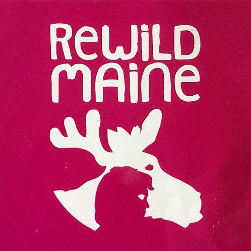 Rewild Maine Sticker