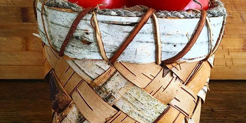 (SOLD OUT) Plaited Birch Bark Baskets (1)