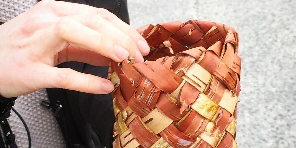 Plaited Birch Bark Baskets