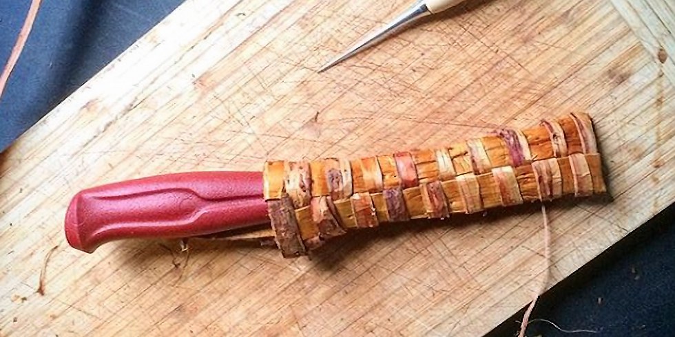Cedar Bark Knife Sheaths
