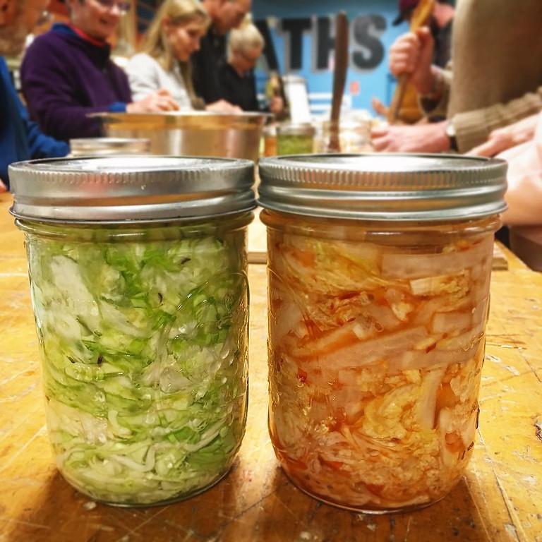 Making Sauerkraut and Kimchi