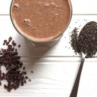 Cheryl Eats Green Raw Cacao Healing Smoothie