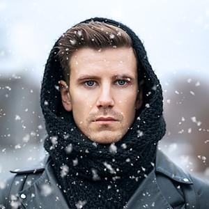 Zimowy street z Mateuszem