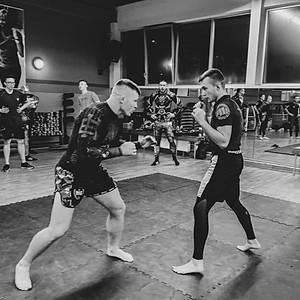 Albert Odzimkowski na treningu MMA w klubie Fit&Fun