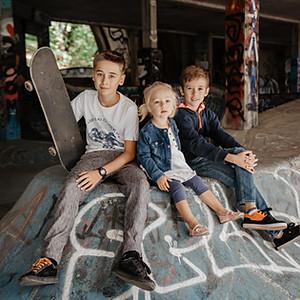 Rodzinka w SkateParku