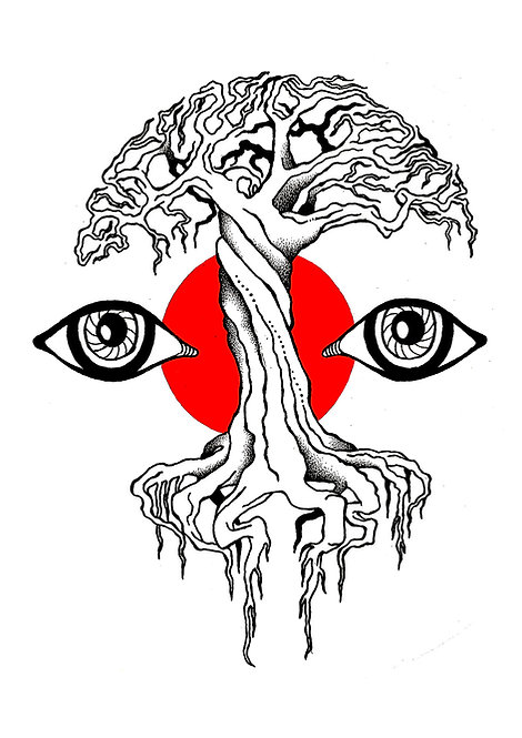 Ilustração Árvore Ancestral