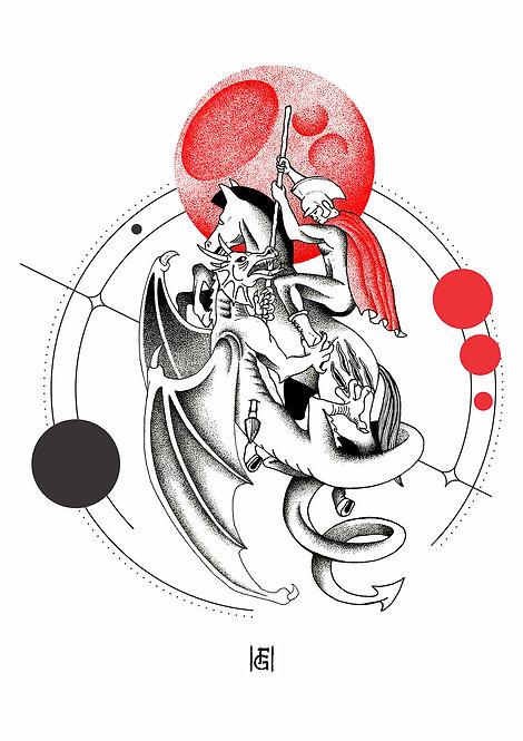 Ilustração São Jorge o Dragão