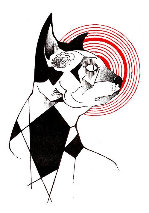 Ilustração Gato Homúnculo