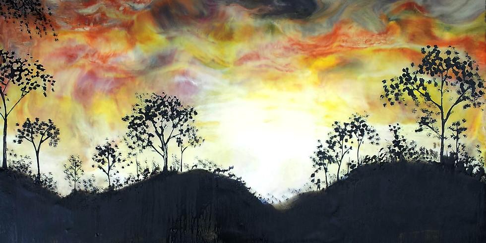 Encaustic Painting - Mystic Horizons/Lands