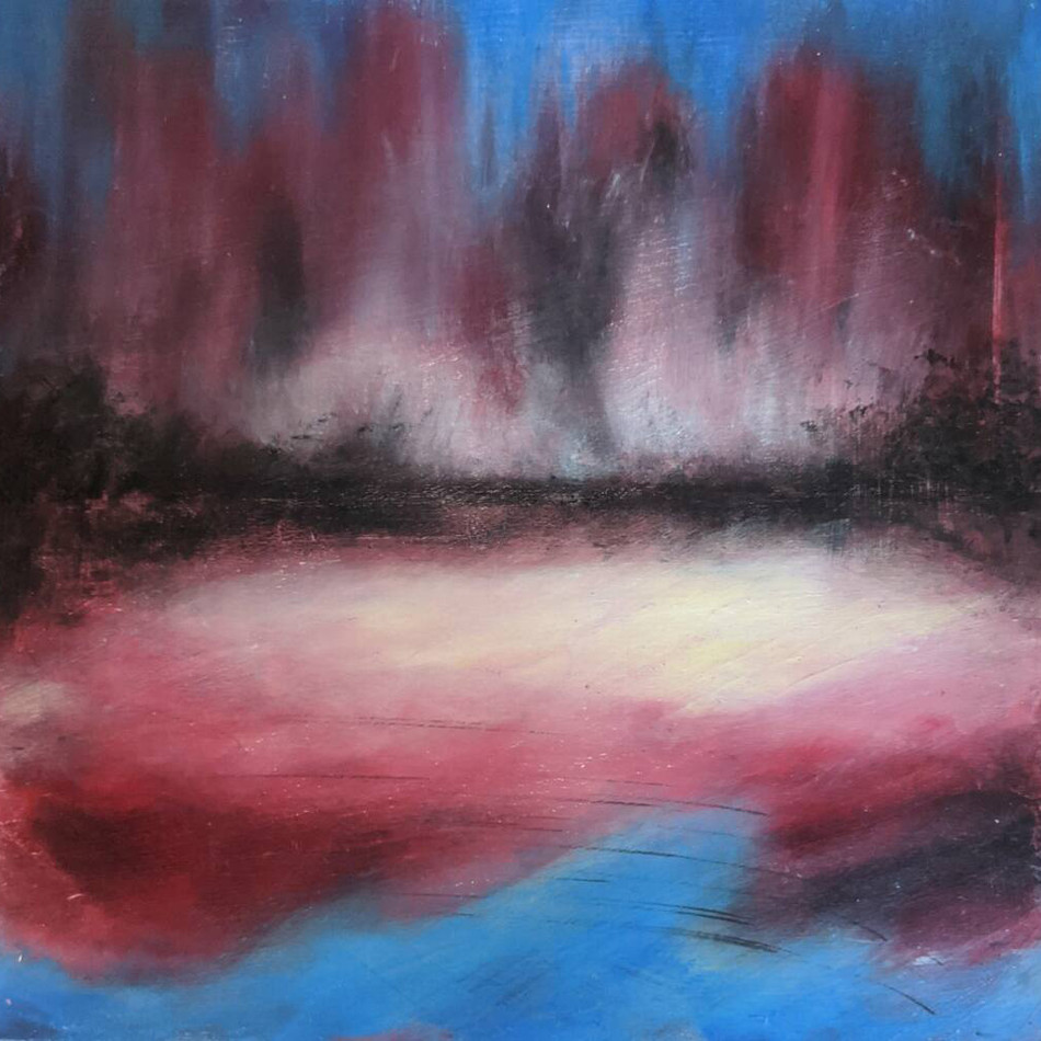 suzanne bell cold wax contemporary lands