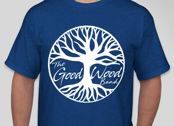 The Good Wood Band T-Shirt - Blue