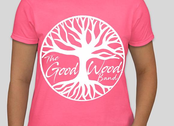 The Good Wood Band T-Shirt - Pink