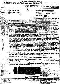 Marilyn-JFK secret memo