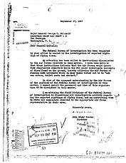 Hoover Memo to General McDonald, Sept 27 1947