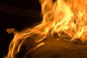 Cardboard on fire