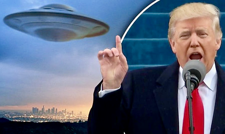 Trump, UFO, flying saucer