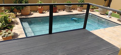 Charcoal Co-Ex Deck &  Cable Balustrade