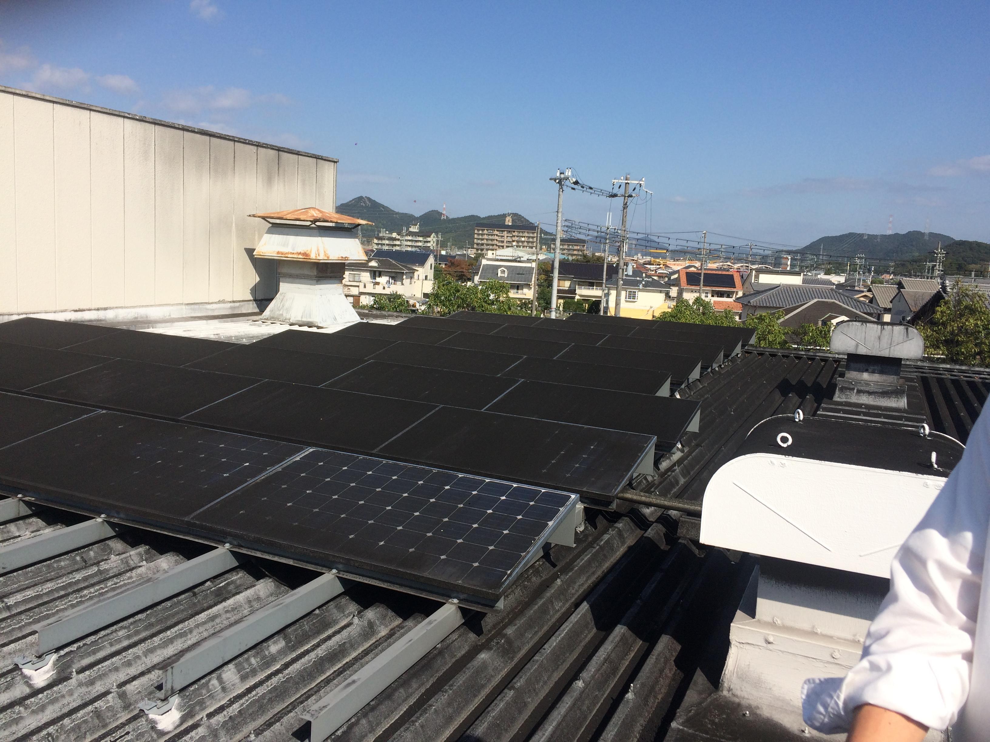 姫路市 食品工場屋根上 現地写真2