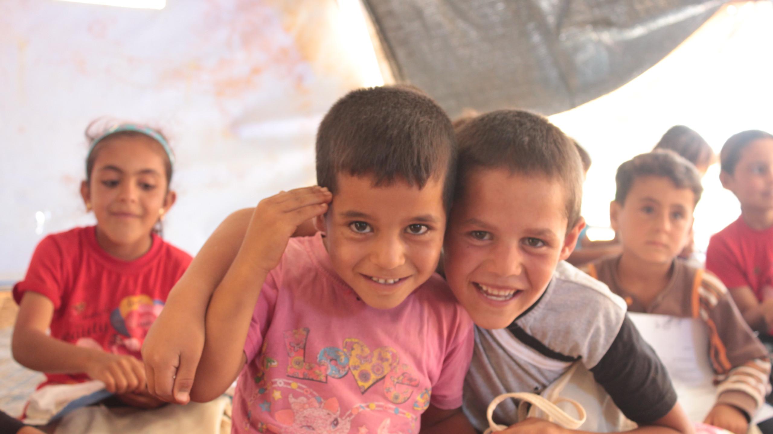 子ども達の自然な笑顔