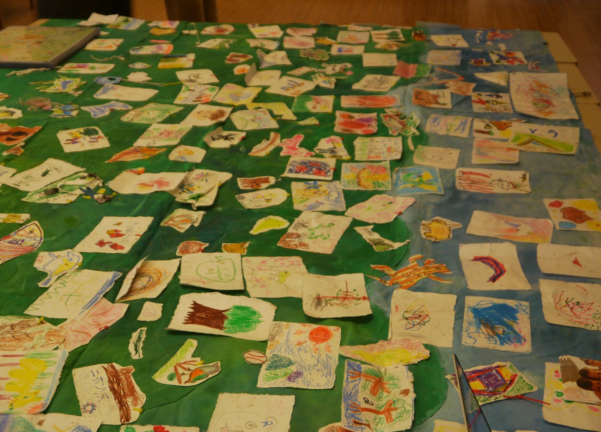 神戸の子ども達によるたくさんの絵