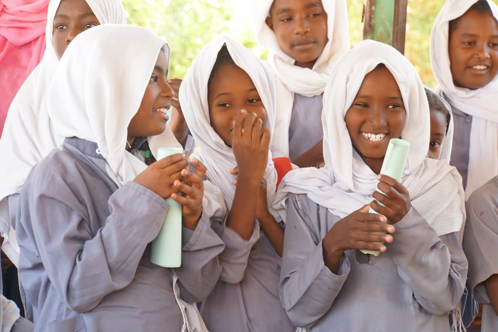女の子達のはじける笑顔