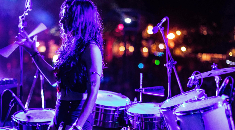 Percussionist Mila Tina