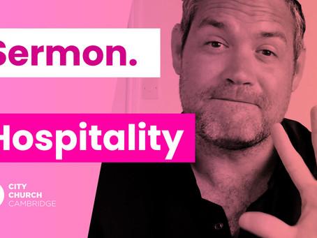 Sunday – Hospitality Sermon
