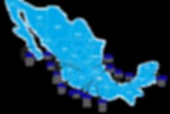 Estados participantes WER México 2017