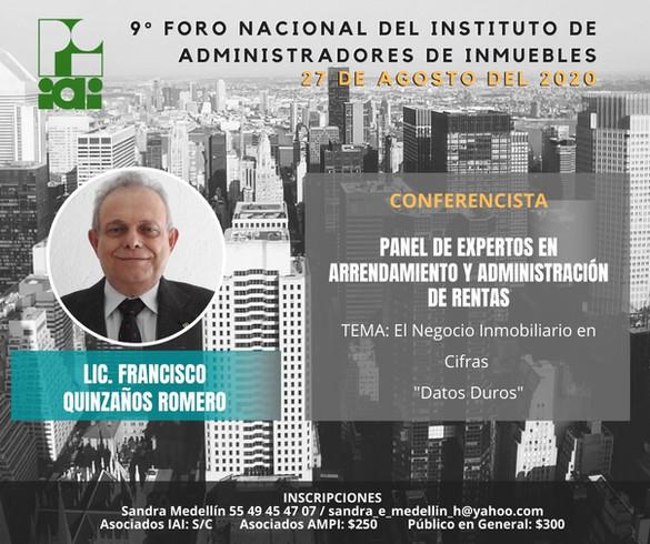 LIC. FRANCISCO QUINZAÑOS ROMERO