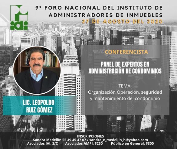 LIC. LEOPOLDO RUIZ GOMEZ