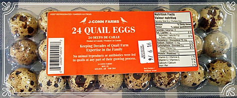 jconn farms, quail eggs alberta, quail eggs