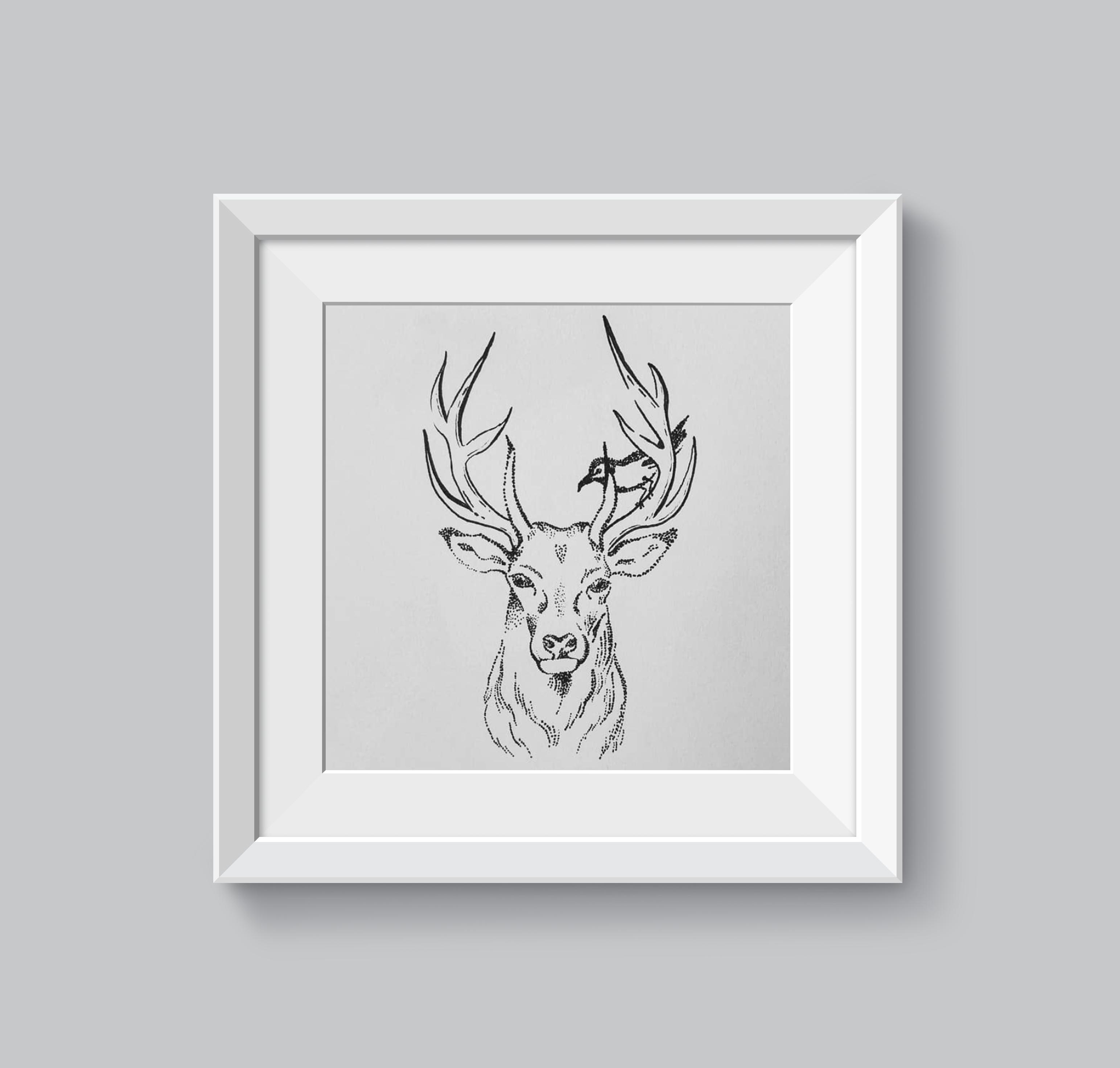mockup deer