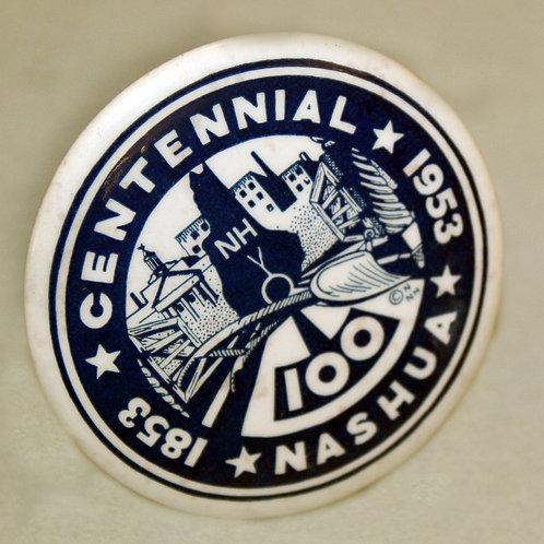 Nashua Centennial Pin