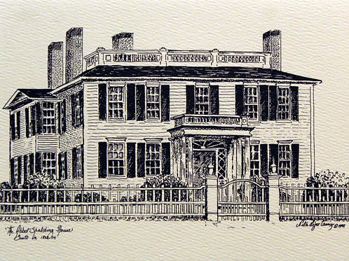 Print Limited Edition Unframed:  Abbot-Spalding House
