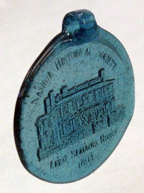Glass Medallion:  Abbot-Spalding House
