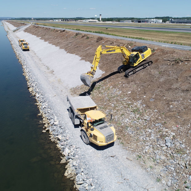 HARRISBURG INT'L AIRPORT DRAINAGE IMPROVEMENTS - FLOOD DIKE REHABILITATION