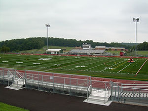 Twin Valley Stadium Field Turf Progress