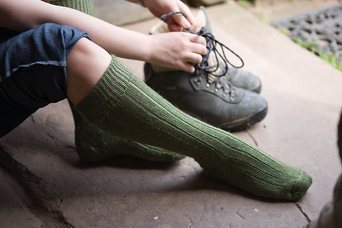 Comfort-Knit Mohair Socks - Long