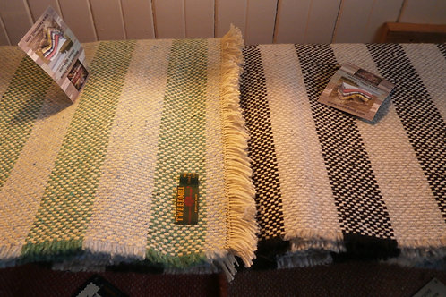 Striped Crosshatch Weave Throw