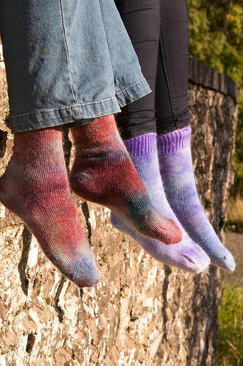 Harlequin Mohair Socks - Short