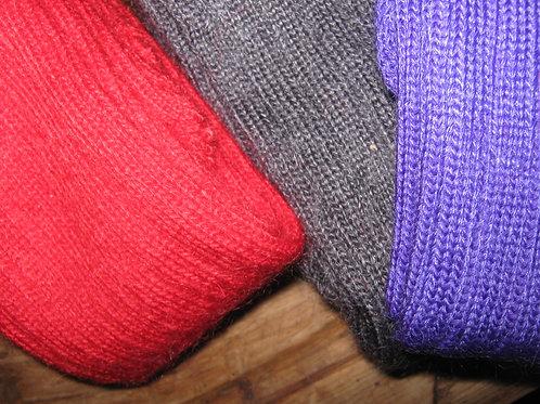 Plain-knit Mohair Socks - Short