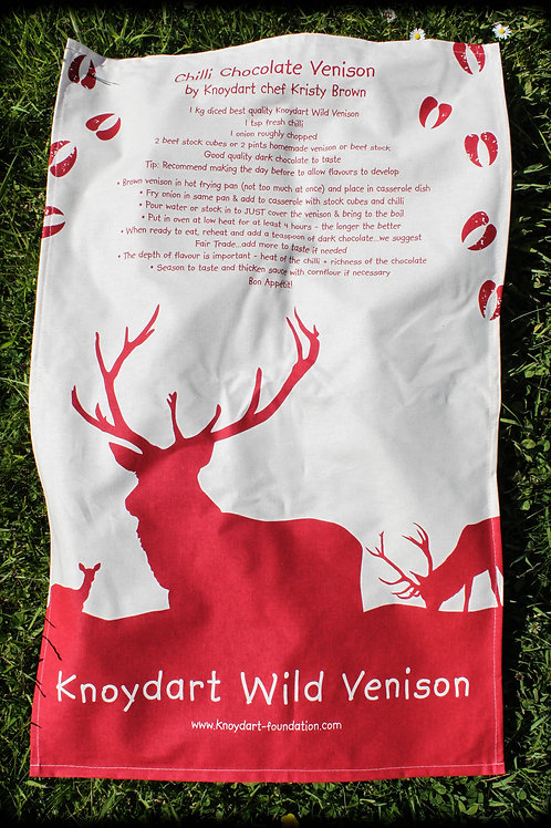 Venison Recipe Tea Towel