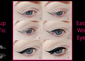 "Makeup ""How To"" Easy Winged Eyeliner Tutorial!"