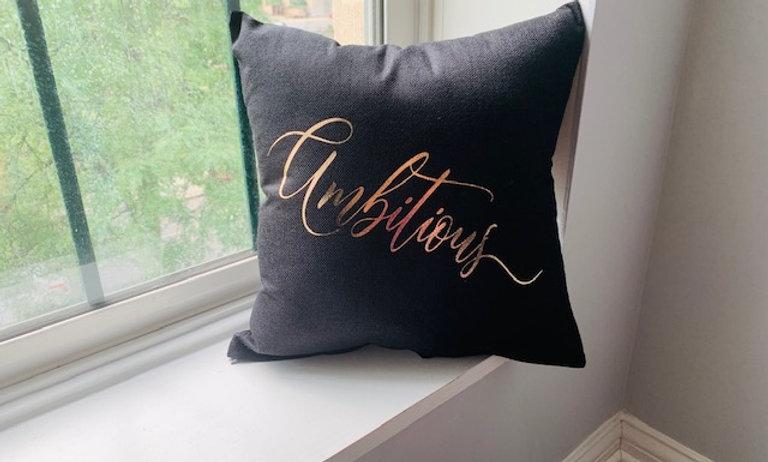 Black and Gold (glitter/non glitter) Pillow